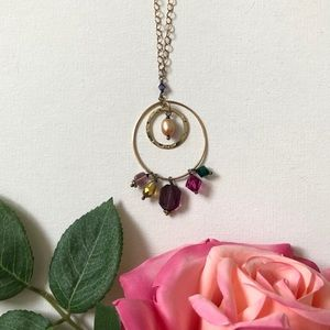 Gold filled Necklace with Swarovski Crystals